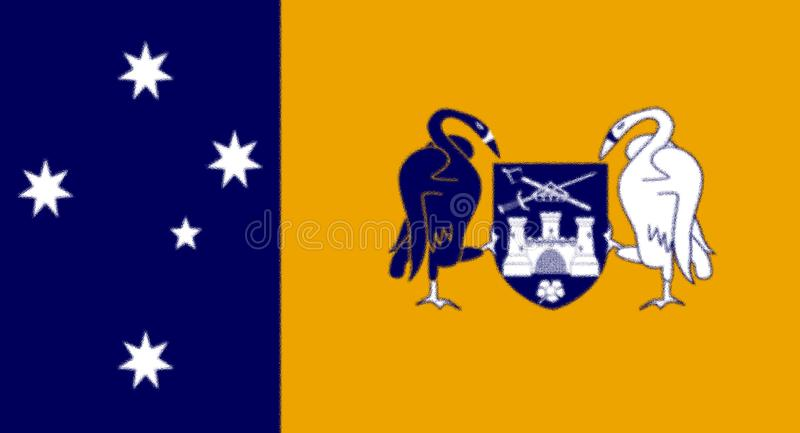Flag of the Australian Capital Territory. vector illustration