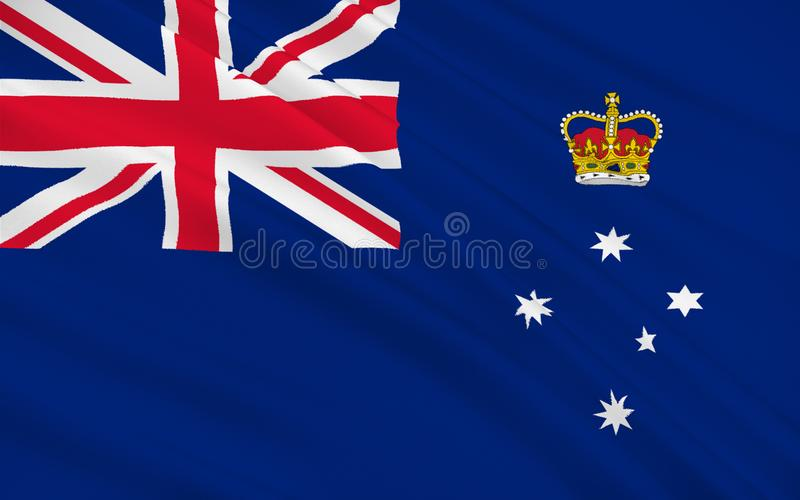 Flag of Australian Capital Territory. Flag of Victoria Vic is a state in the south-east of Australia. Most of its population is concentrated in the area stock illustration
