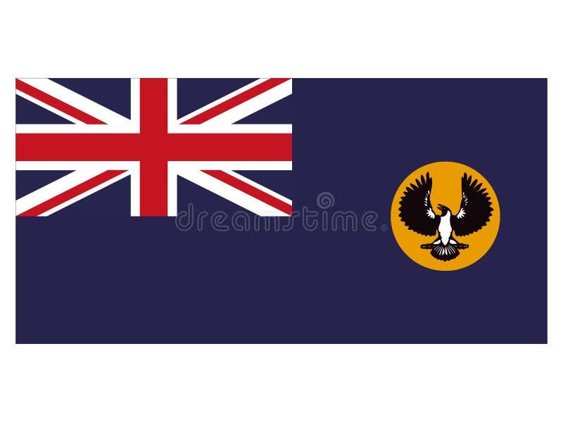 Flag of the Australian State of South Australia vector illustration