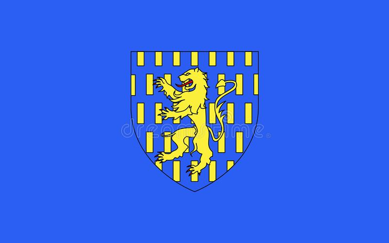 Flag of Auxerre, France. Flag of Auxerre is the capital of the Yonne department and the fourth-largest city in Burgundy stock image