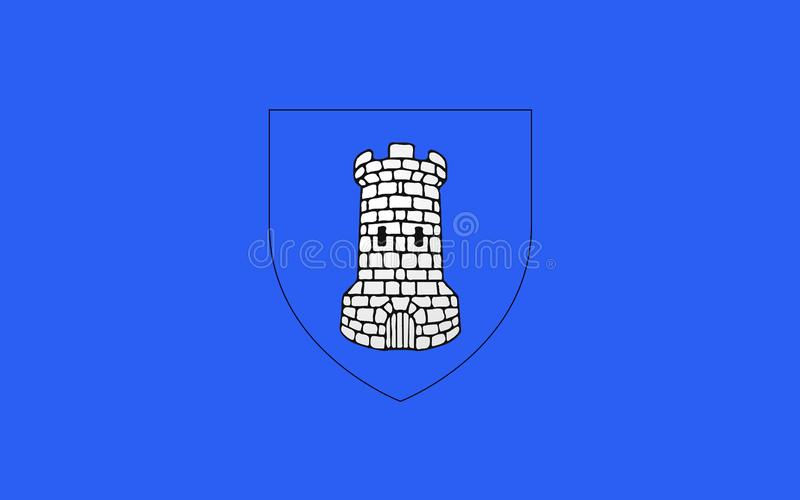 Flag of Avallon, France. Flag of Avallon is a commune in the Yonne department in Burgundy in central-eastern France stock images