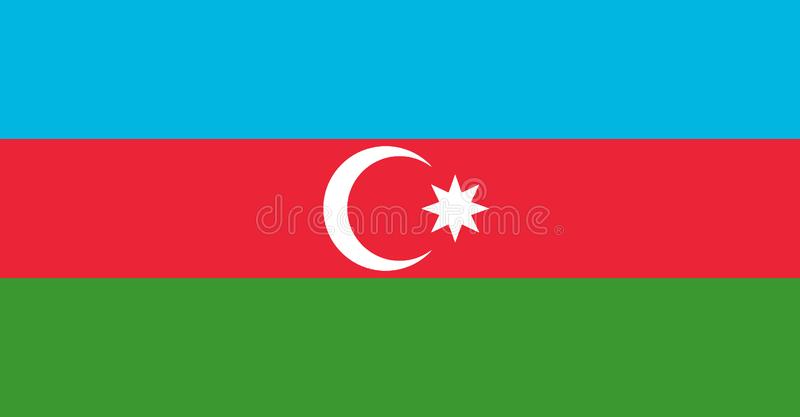 Flag of Azerbaijan. Background or texture close-up vector illustration