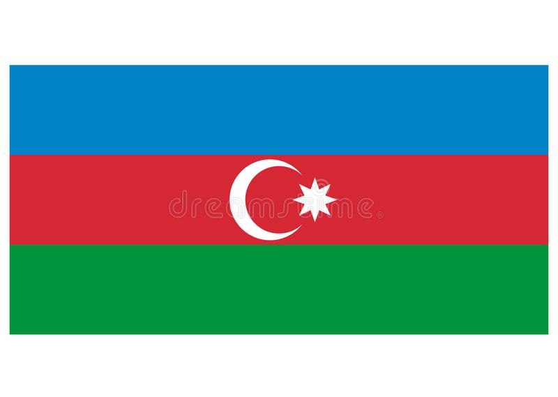 Flag of Azerbaijan. Vector format ai aviable europe asia red blue white green vector illustration