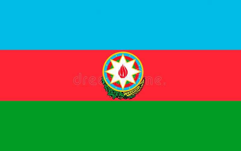 Flag of Azerbaijan. Officially the Republic of Azerbaijan is a country in the Transcaucasian region, situated at the crossroads of Southwest Asia and royalty free stock images