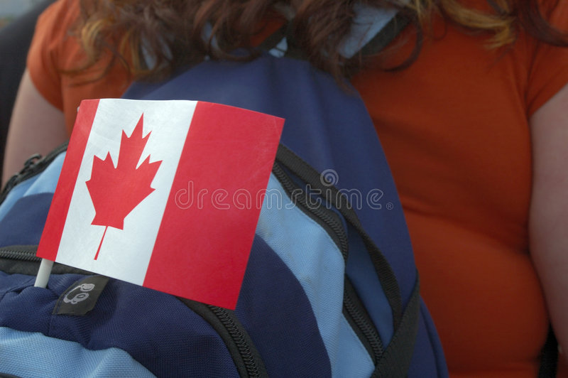 Flag backpack stock photo