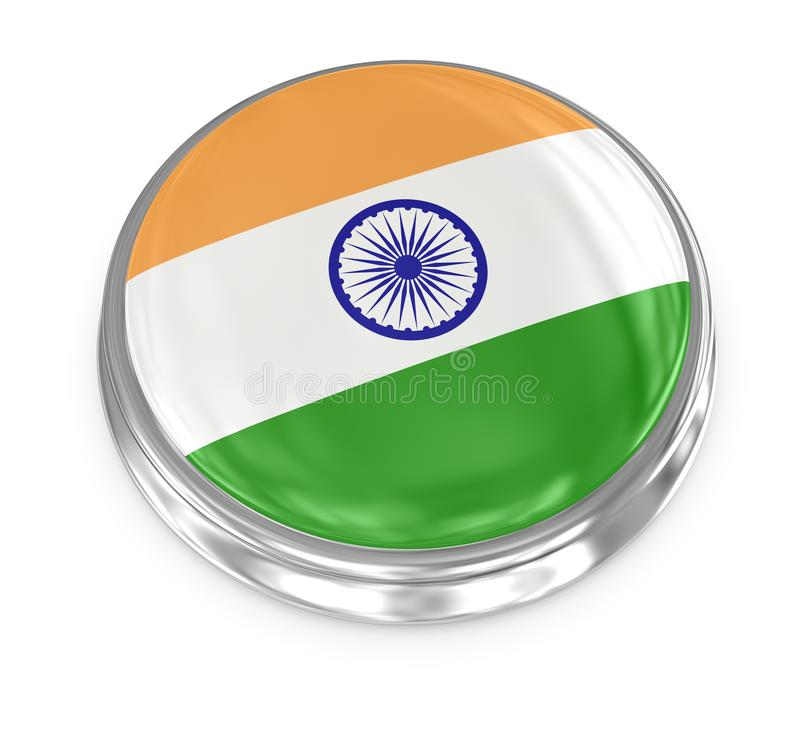Flag badge - India stock illustration