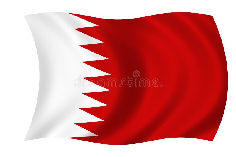 Flag of bahrain stock illustration