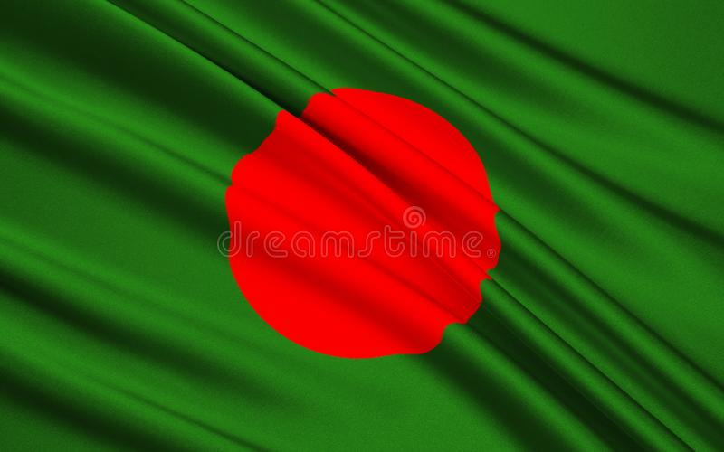 Flag of Bangladesh stock photo