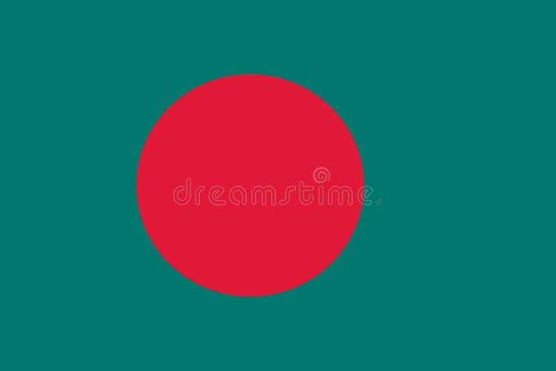 Flag of Bangladesh royalty free illustration