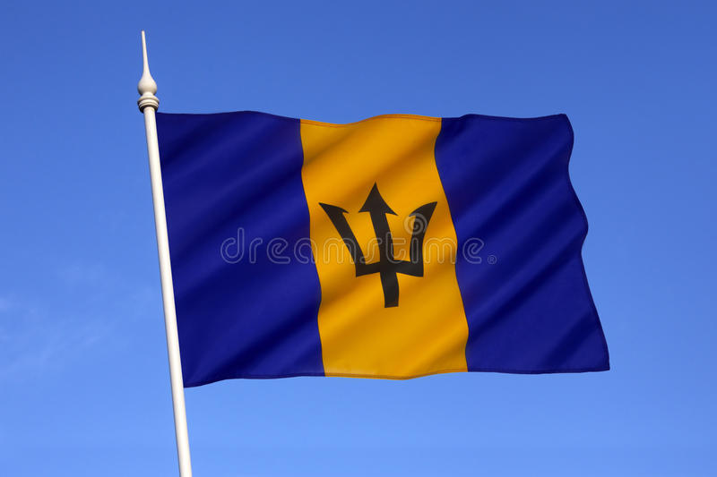 Flag of Barbados. The national flag of Barbados was officially adopted on 30 November 1966, the island's first Independence Day royalty free stock photos