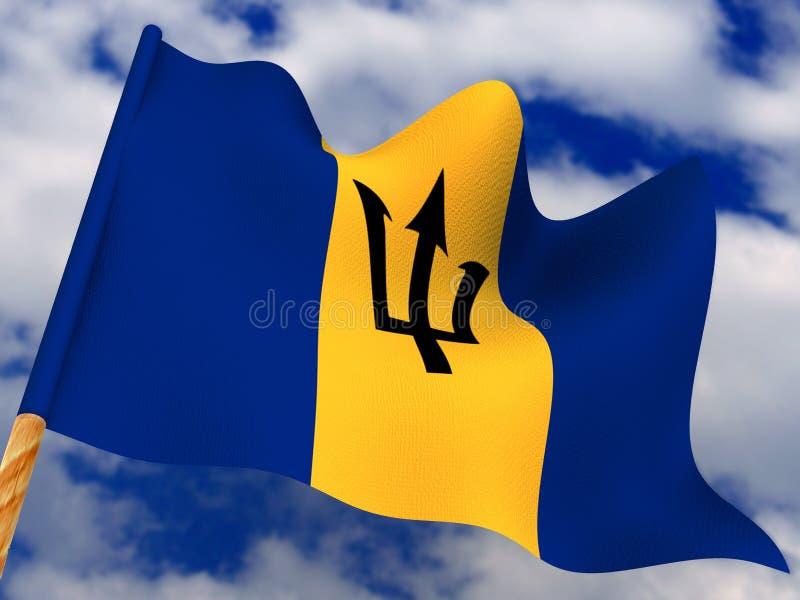 Flag. Barbados royalty free illustration