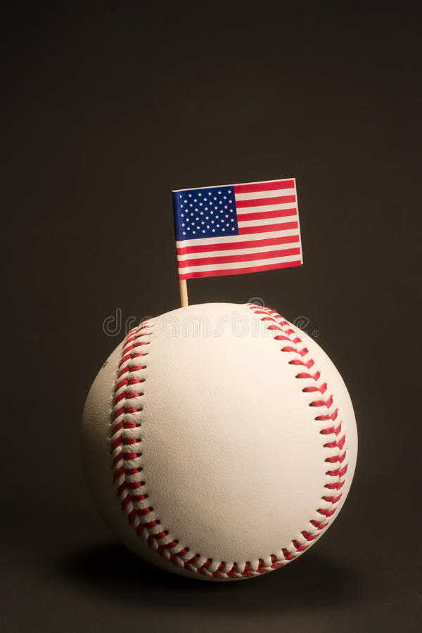 Download Flag in baseball stock photo. Image of flag, american - 25579498