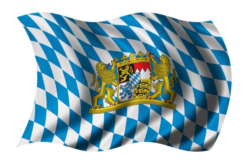 Flag of Bavaria stock illustration