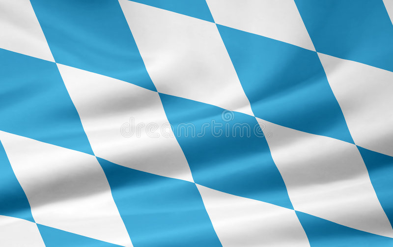 Flag of Bavaria. Very large version of an bavarian flag. The number of lozengies represents the official number royalty free illustration