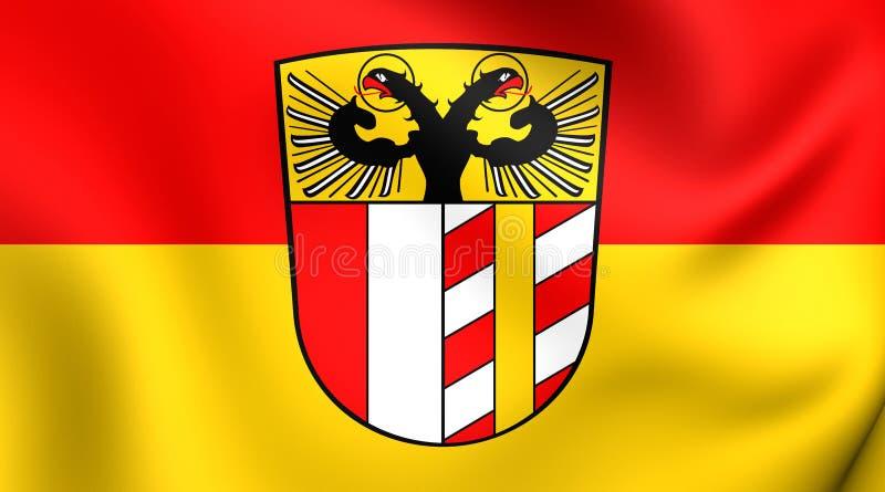 Flag of Bavarian Swabia, Germany. Close Up stock illustration