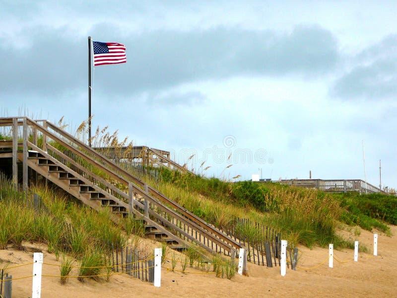 Flag on the Beach royalty free stock photo
