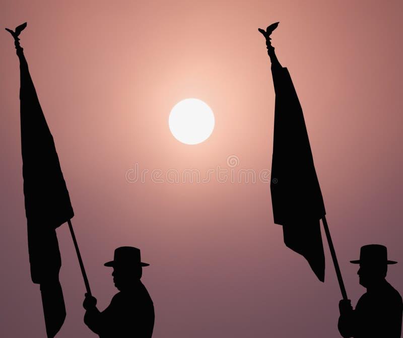 Flag bearers stock photos