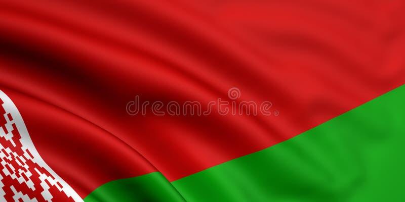 Flag Of Belarus. 3d rendered flag of belarus