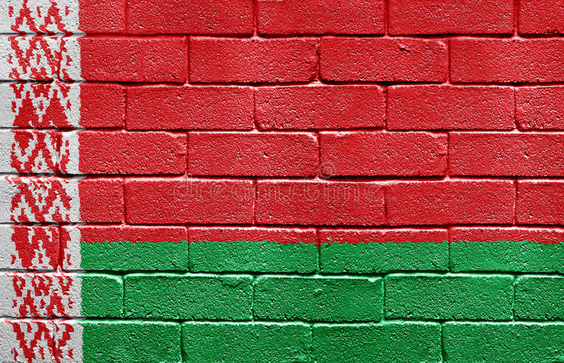 Download Flag Of Belarus On Brick Wall Stock Illustration - Image: 9774762