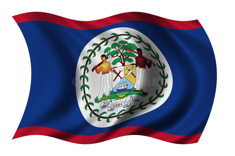 Flag of Belize. Waving in the wind - clipping path included vector illustration