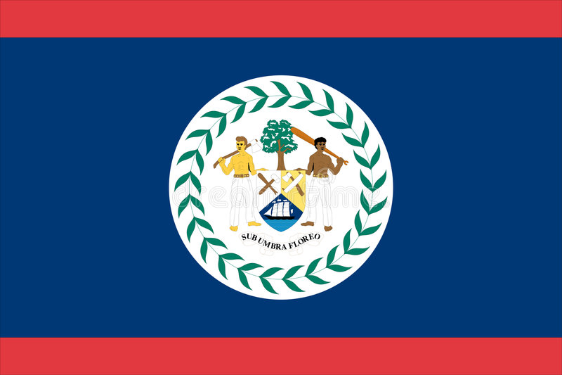 Flag of belize. Vector illustration vector illustration