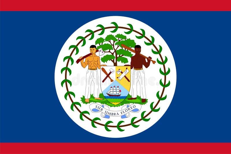 Flag of Belize. Illustration over white background royalty free illustration