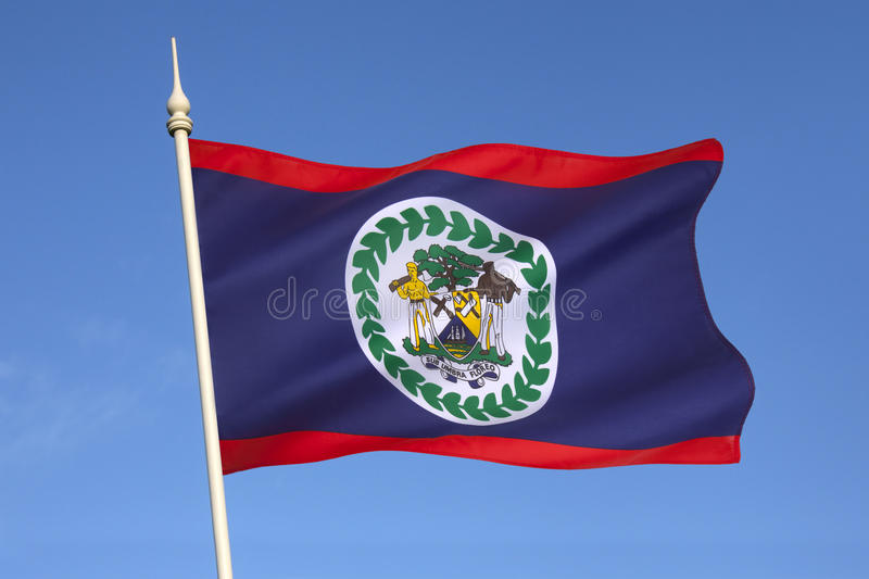 Download Flag Of Belize - Central America Stock Photo - Image: 35121710