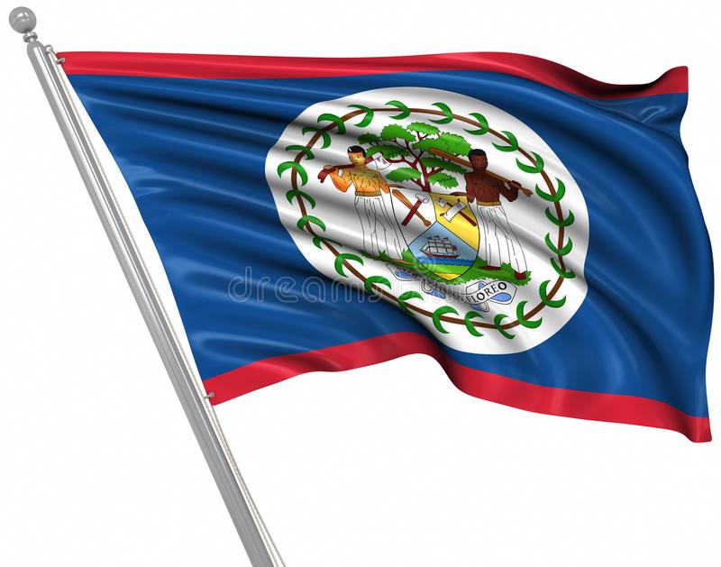Flag of Belize. This is a computer generated and 3d rendered picture vector illustration