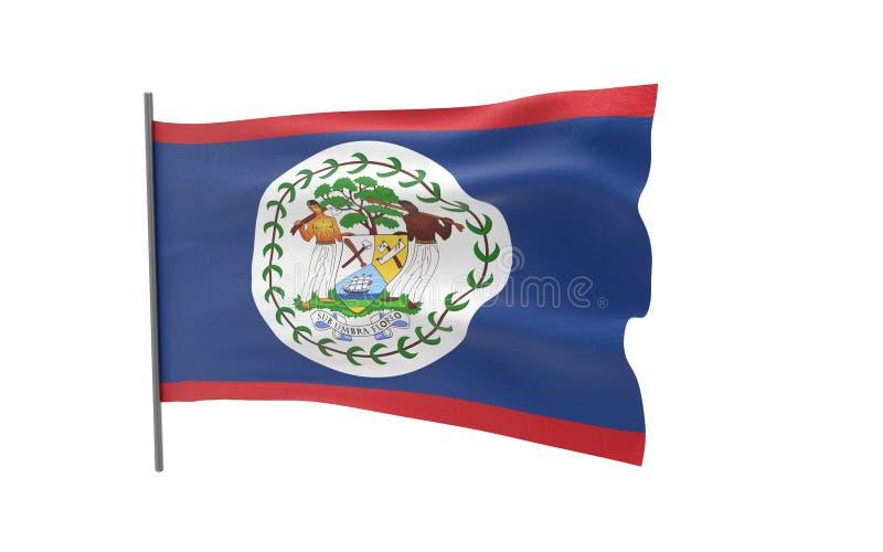Flag of Belize. Illustration of a waving flag of Belize vector illustration