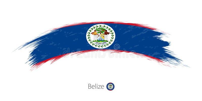 Flag of Belize in rounded grunge brush stroke. Vector illustration stock illustration