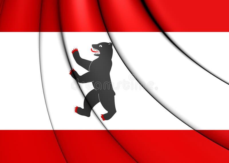 Flag of Berlin, Germany. 3D Flag of Berlin, Germany. Close Up vector illustration