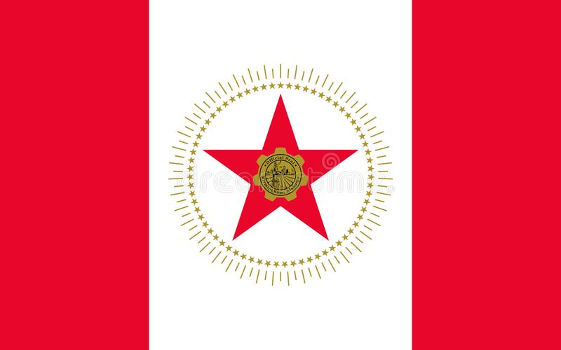 Flag of Birmingham, Alabama, USA. Flag of Birmingham is the largest city in the U.S. state of Alabama. The city is the county seat of Jefferson County, USA stock photo