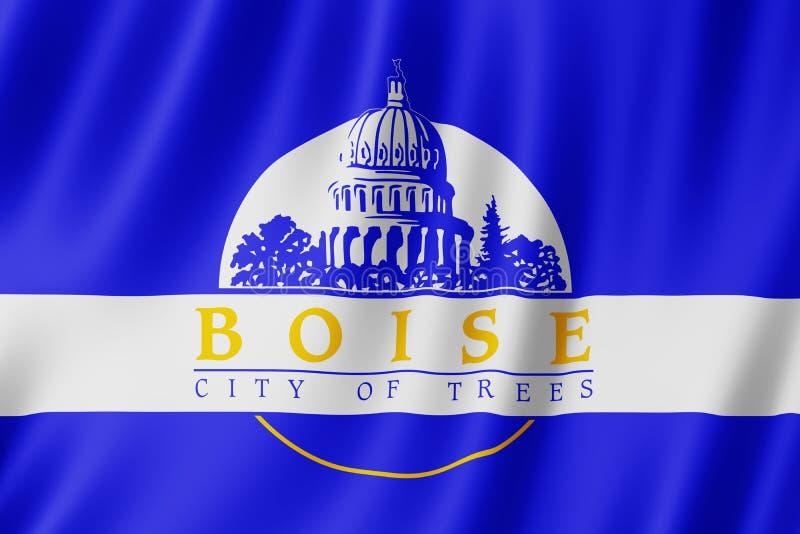 Flag of Boise city, Idaho US. 3d illustration royalty free illustration