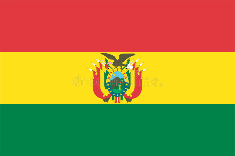 flag of bolivia stock illustration