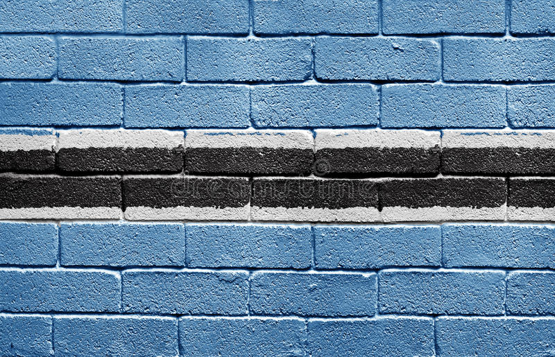 Download Flag Of Botswana On Brick Wall Stock Illustration - Illustration of brickwall, abstract: 9774867