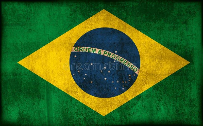 Flag of Brazil stock illustration