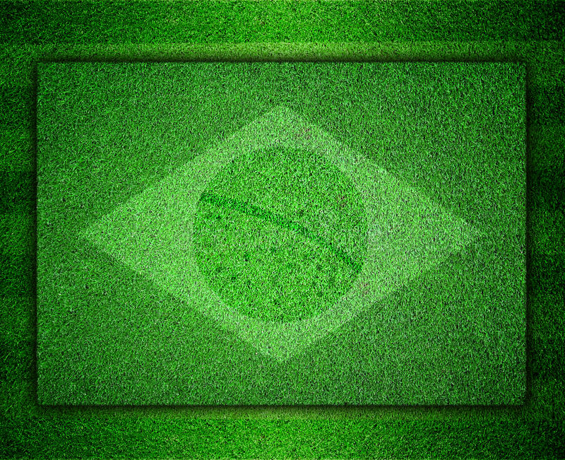 Download Flag Of Brazil As A Painting On Grass Stock Image - Image of championship, green: 39512931