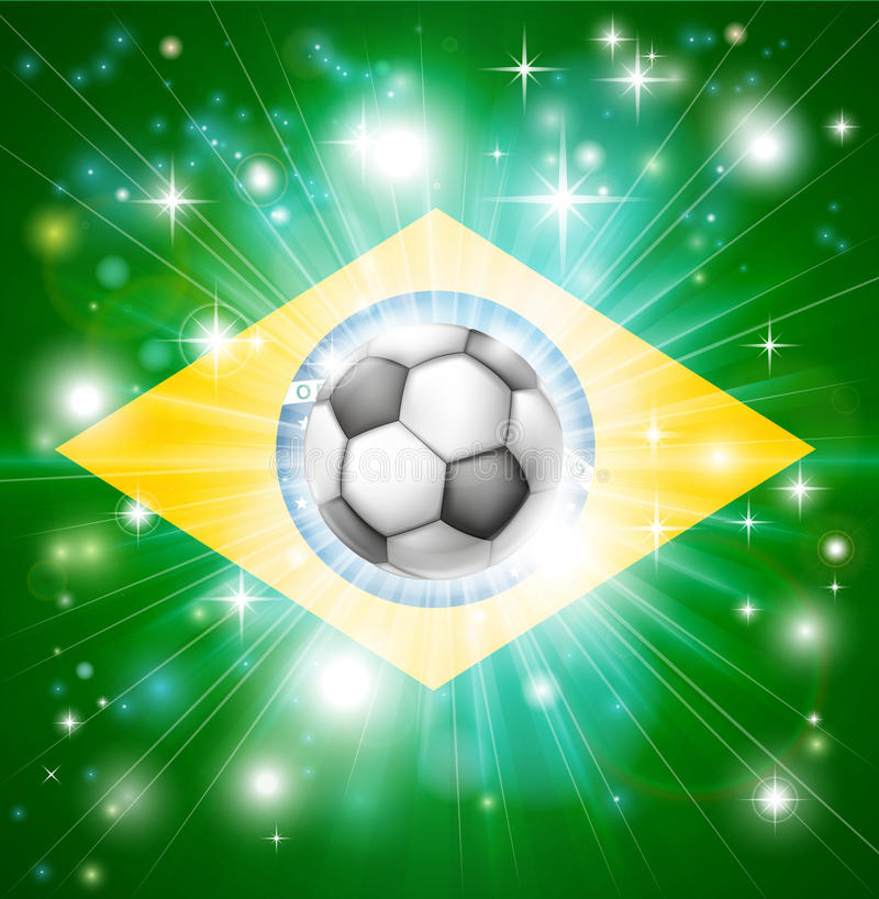Download Brazil soccer flag stock vector. Image of nation, pentagon - 29768267
