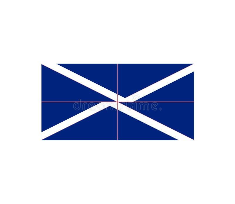 Flag of Britain. Lorraine vector format ai available blu stock illustration