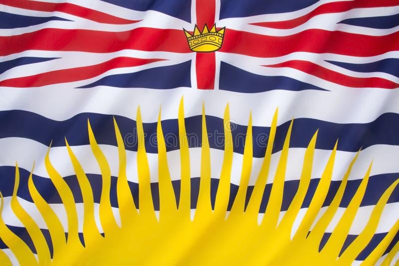 Flag of British Columbia - Canada stock images