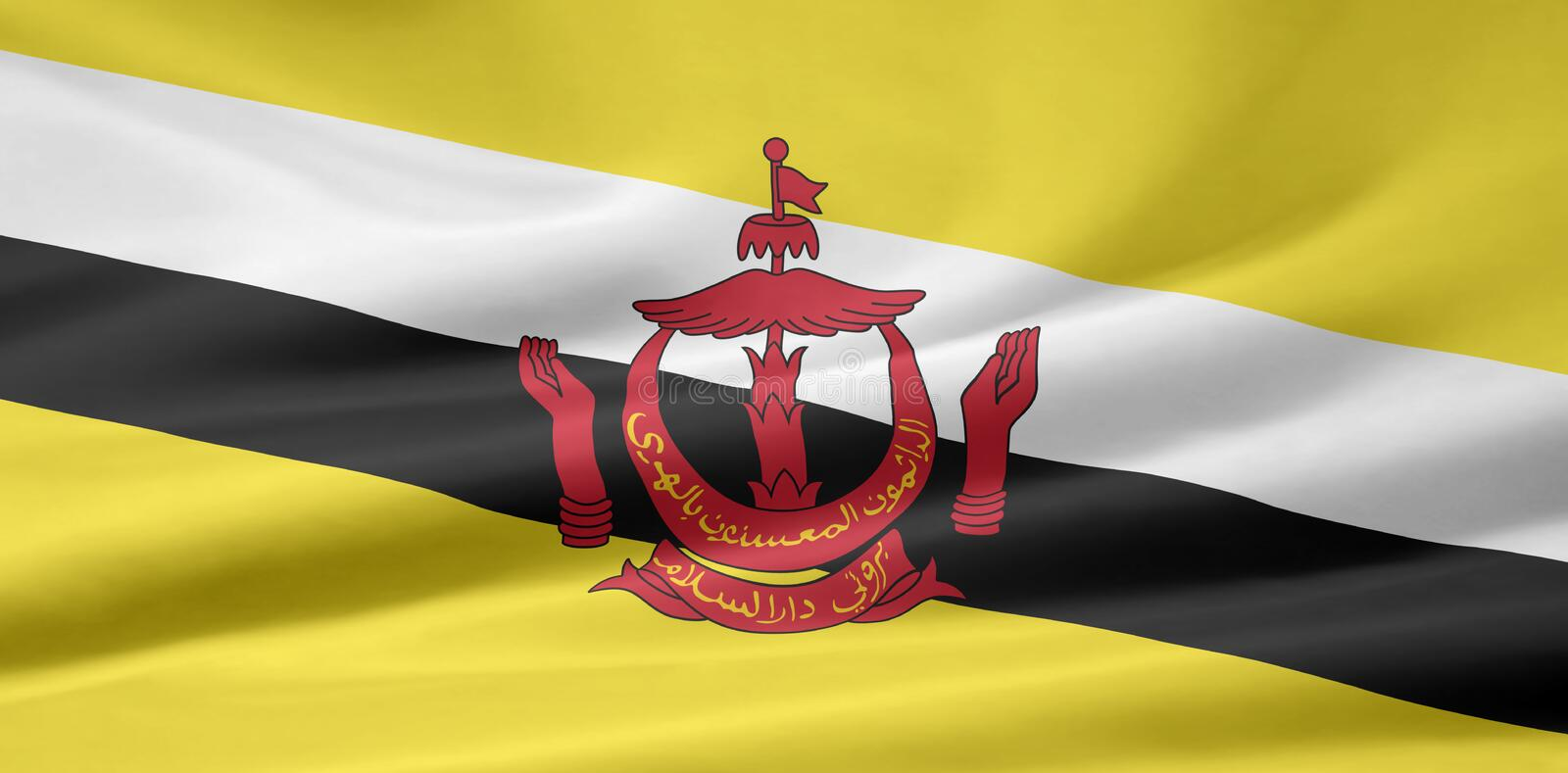 Download Flag Of Brunei Royalty Free Stock Images - Image: 7116089