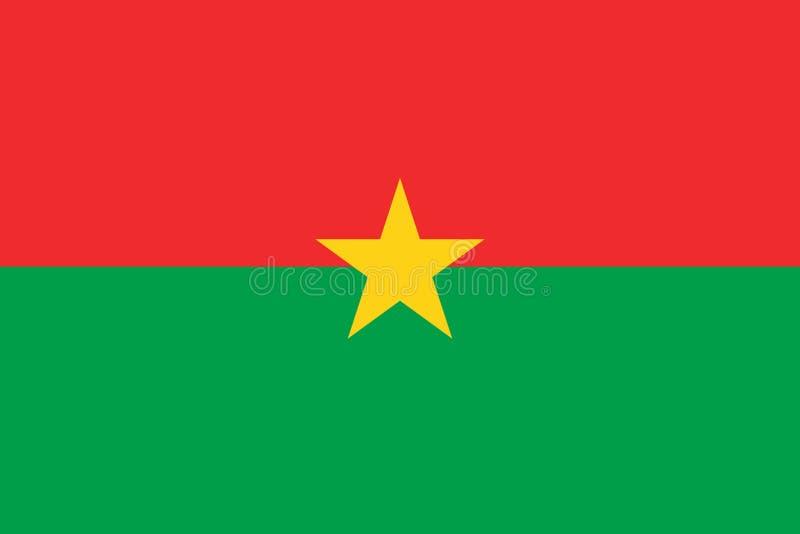 Flag of Burkina Faso. Burkina Faso flag stock illustration
