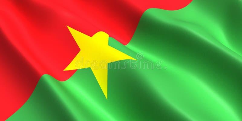 Burkina Faso flag 3d stock illustration