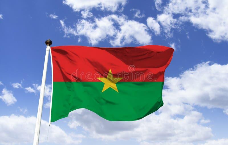 Flag of Burkina Faso, country towards the future stock image