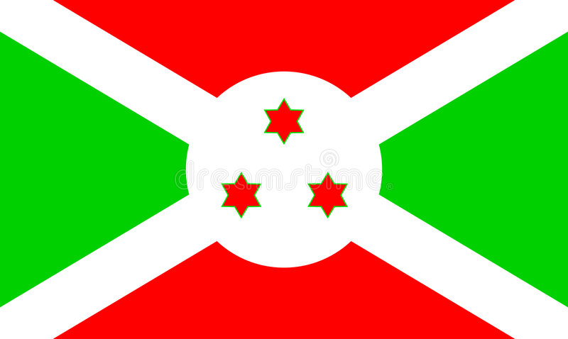 Flag of Burundi stock images