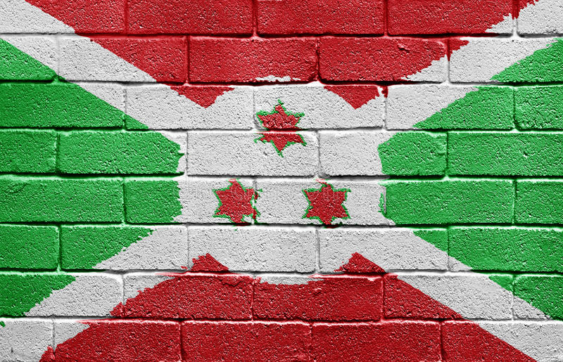 Download Flag Of Burundi On Brick Wall Stock Illustration - Image: 9774932