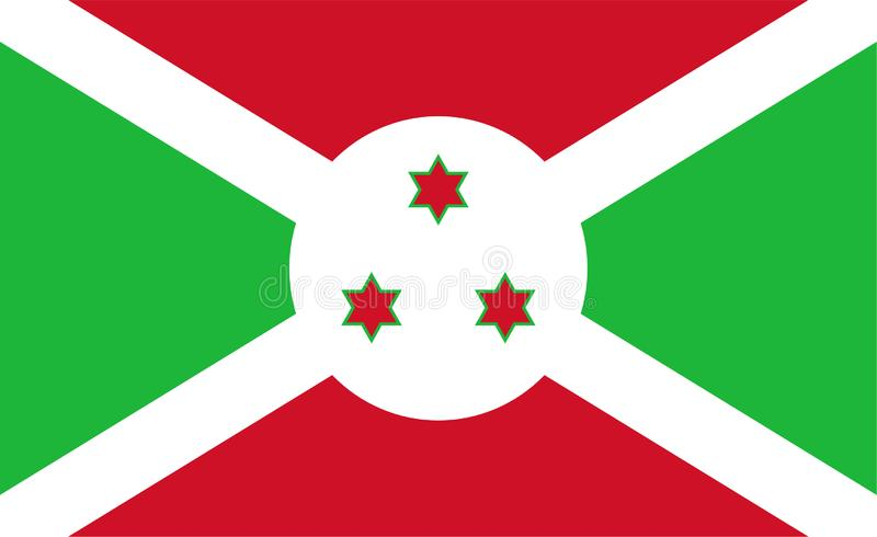 Flag of Burundi stock illustration