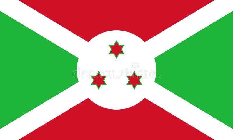 Flag of Burundi vector illustration