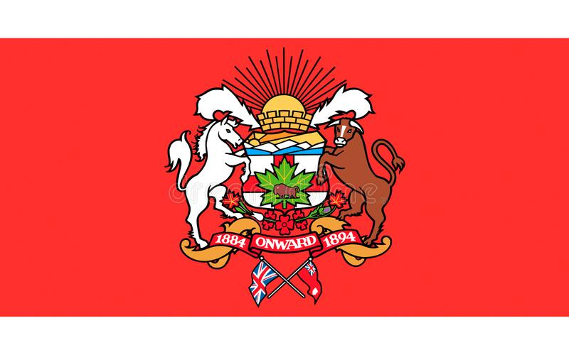 Flag of Calgary in Alberta, Canada. Flag of Calgary is a city in the Canadian province of Alberta royalty free illustration