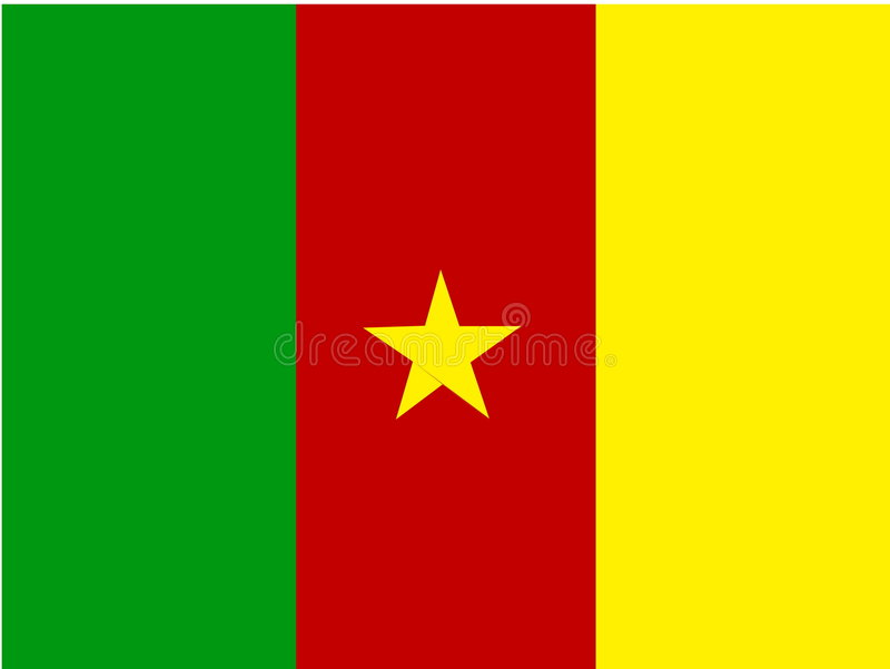 Flag of Cameroon royalty free illustration